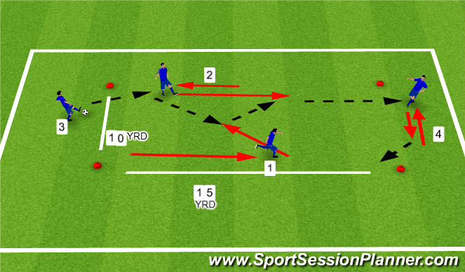 Football/Soccer Session Plan Drill (Colour): Prog 2 WU