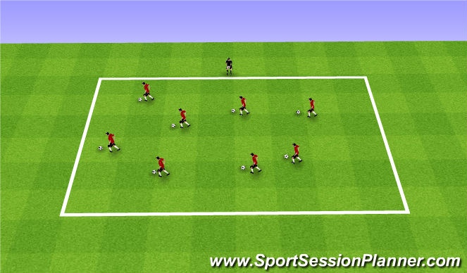 Football/Soccer Session Plan Drill (Colour): Fall ODP Week 4 1st Session