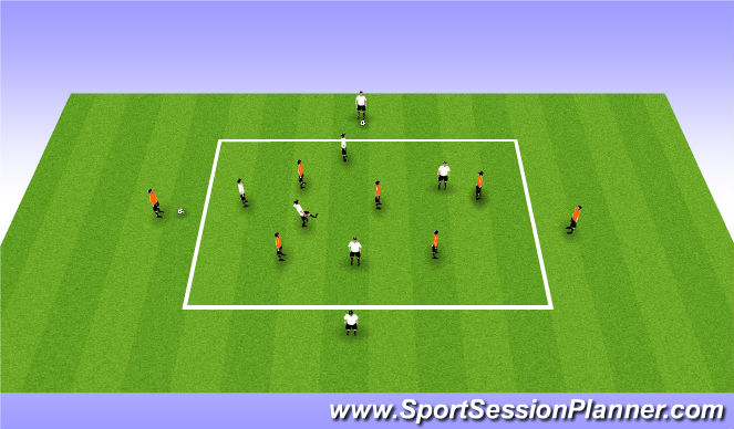 Football/Soccer Session Plan Drill (Colour): Switching Play Part 1