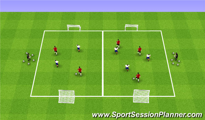 Football/Soccer Session Plan Drill (Colour): Fall ODP Week 10 1st Session