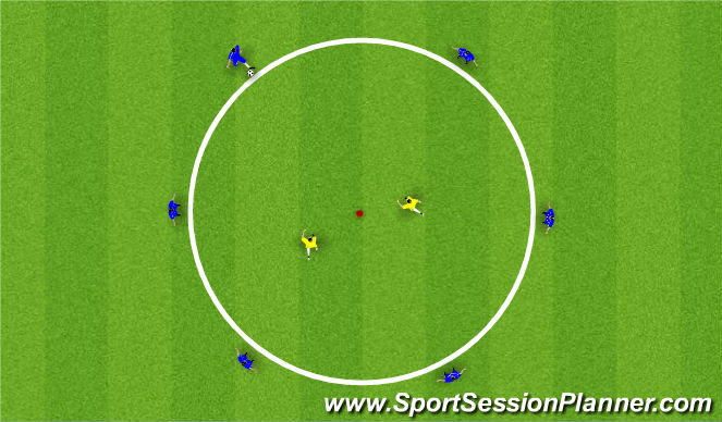 Football/Soccer Session Plan Drill (Colour): 2. Rondo - Through Play