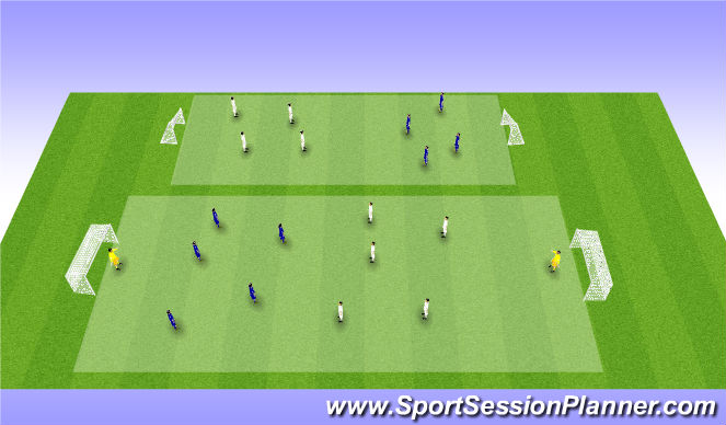 Football/Soccer Session Plan Drill (Colour): 5-4-3-2-1 GAME