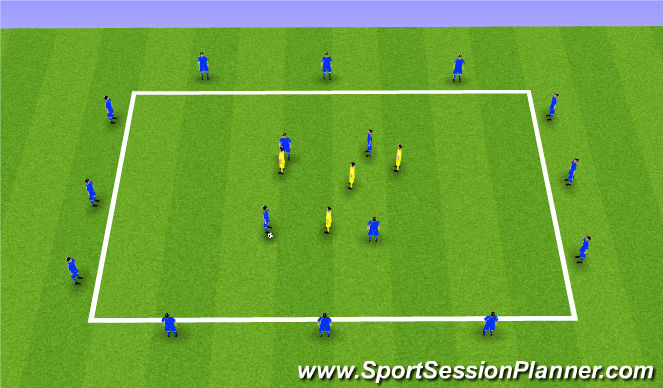 Football/Soccer Session Plan Drill (Colour): Overload Keep Ball