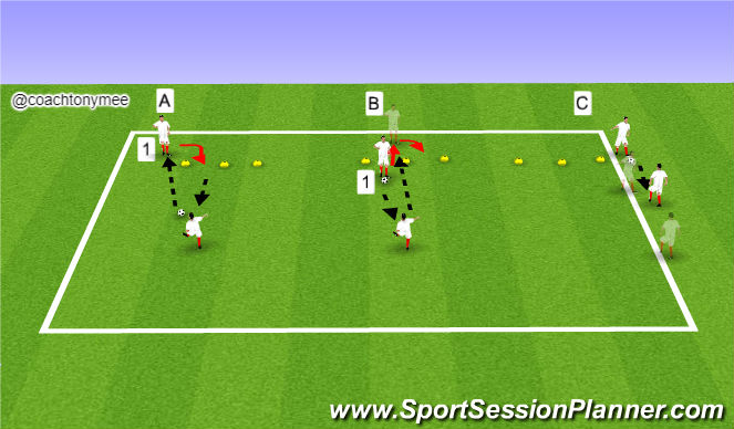 Football/Soccer Session Plan Drill (Colour): Extension 2