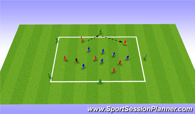 Football/Soccer Session Plan Drill (Colour): Possession with Neutrals outside and inside