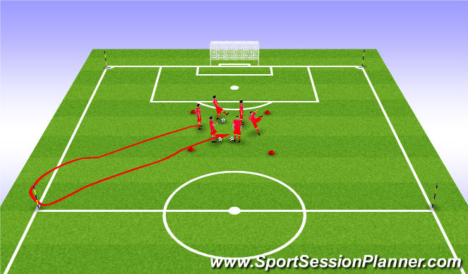 Football/Soccer Session Plan Drill (Colour): excercise