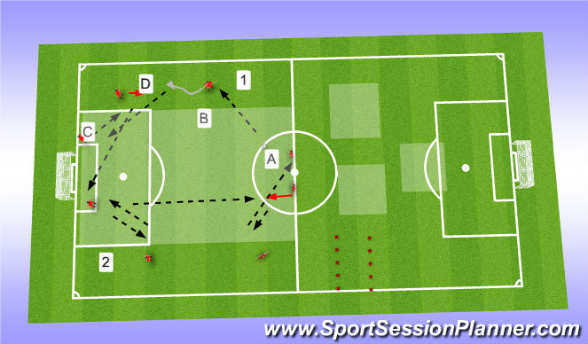 Football/Soccer Session Plan Drill (Colour): Warmup + passing