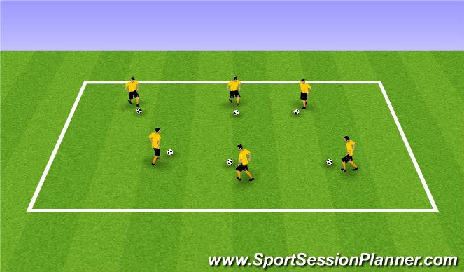 Football/Soccer Session Plan Drill (Colour): Ball Mastery - Ball Tag