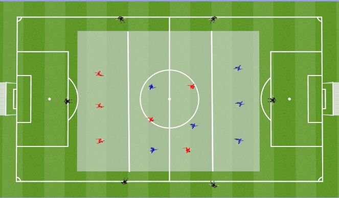 Football/Soccer Session Plan Drill (Colour): POSESION