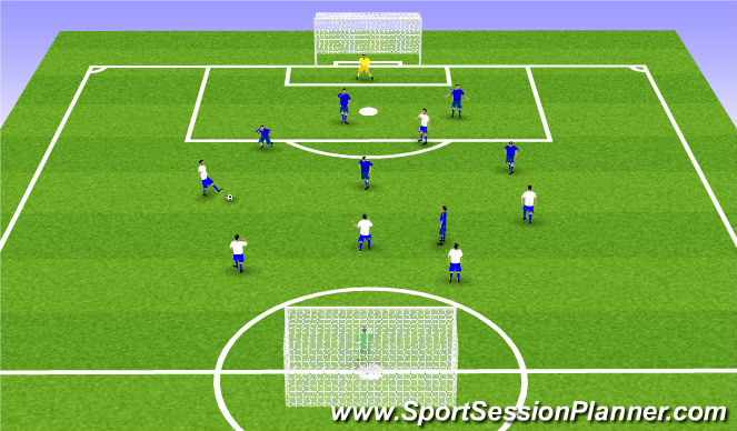 Football/Soccer Session Plan Drill (Colour): Spil: