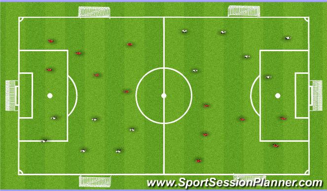 Football/Soccer Session Plan Drill (Colour): Aerobic Drill