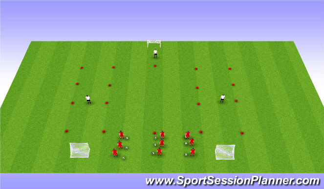 Football/Soccer Session Plan Drill (Colour): Technical Drill- Part 2