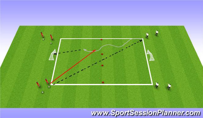 Football/Soccer Session Plan Drill (Colour): Skill Drill- Set Up 1