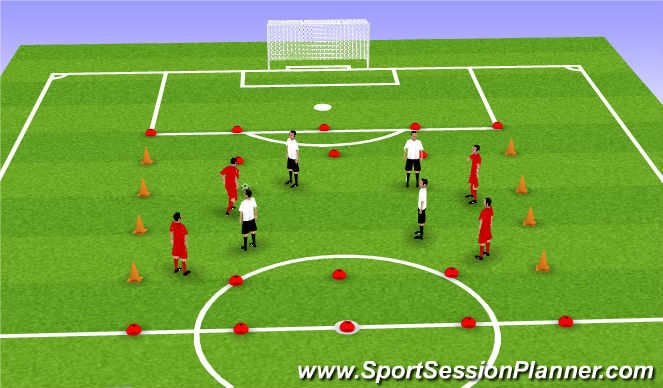 Football/Soccer Session Plan Drill (Colour): Line Ball