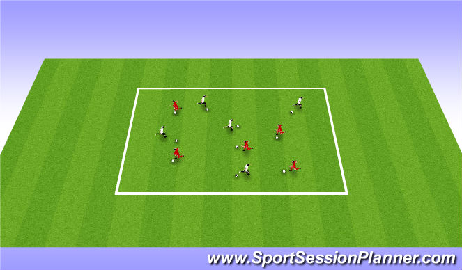 Football/Soccer Session Plan Drill (Colour): Nomads Moves