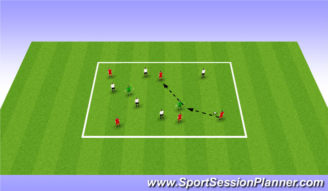 Football/Soccer Session Plan Drill (Colour): Possession Game 2