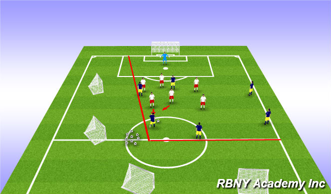 Football/Soccer Session Plan Drill (Colour): Final Test