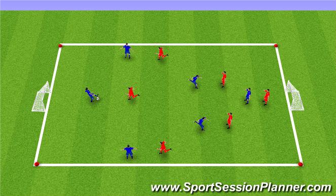 Football/Soccer Session Plan Drill (Colour): Global - SSG