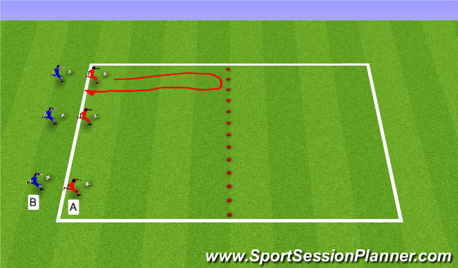 Football/Soccer Session Plan Drill (Colour): Pyramid - 7s