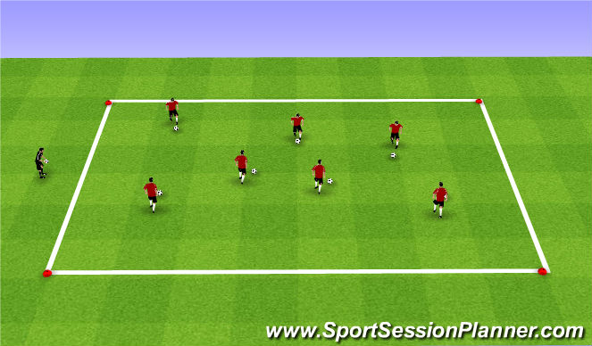 Football/Soccer Session Plan Drill (Colour): Fall ODP 2nd session Week 2