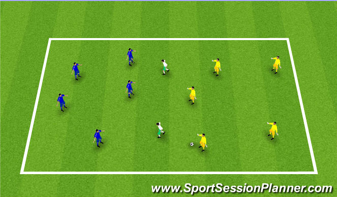 Football/Soccer Session Plan Drill (Colour): Posse Bola