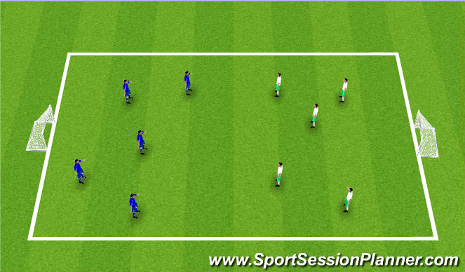 Football/Soccer Session Plan Drill (Colour): Jogos Reduzidos