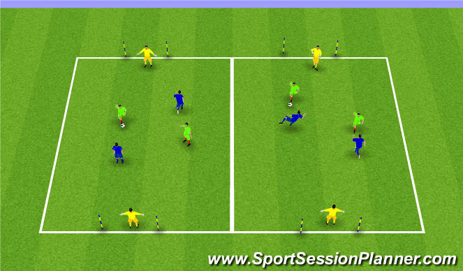 Football/Soccer Session Plan Drill (Colour): World Cup (25 mins)