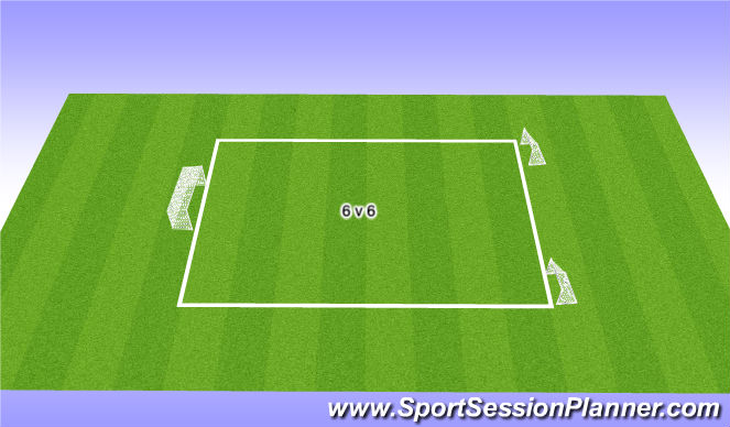 Football/Soccer Session Plan Drill (Colour): Final Game (20 mins)
