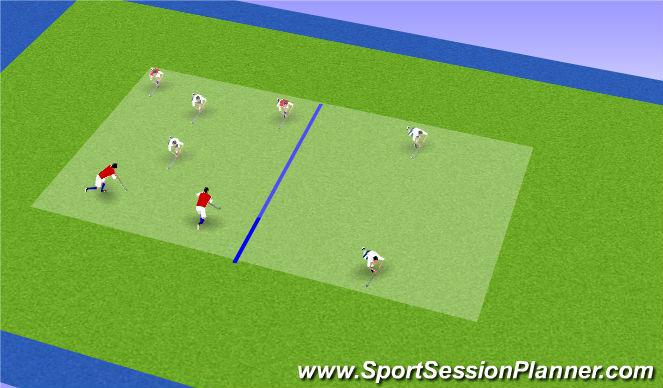 Hockey Session Plan Drill (Colour): 4v4 counter press rondo