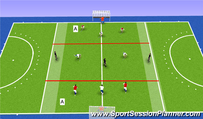 Hockey Session Plan Drill (Colour): Screen 6