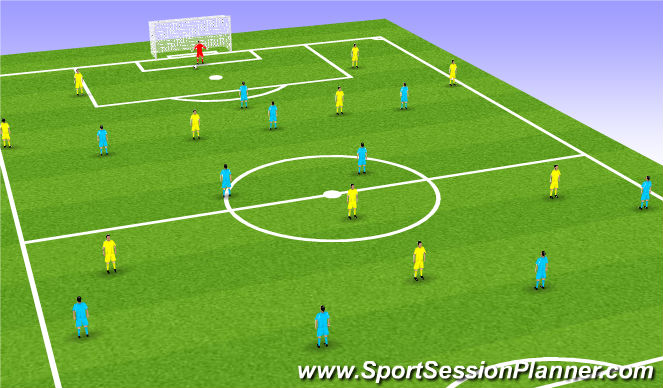 Football/Soccer Session Plan Drill (Colour): Animation 1