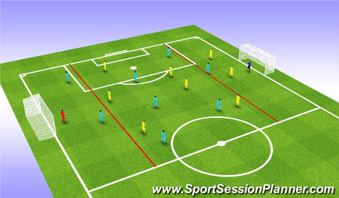 Football/Soccer Session Plan Drill (Colour): Tech/Skill