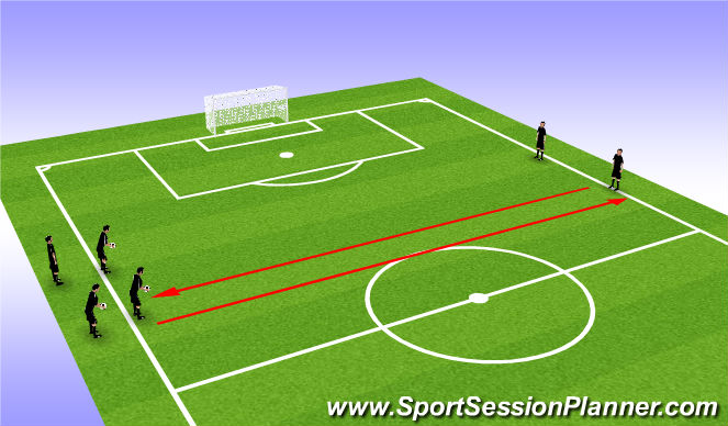 Football/Soccer Session Plan Drill (Colour): Dribble and Run