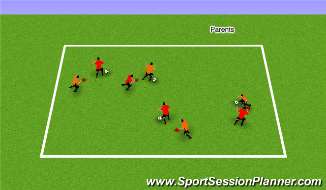 Football/Soccer Session Plan Drill (Colour): Warm Up/ Phys Lit