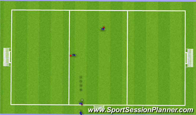Football/Soccer Session Plan Drill (Colour): D passing