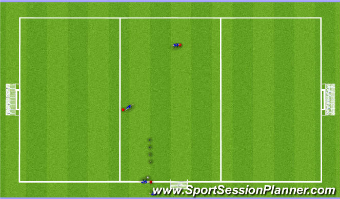 Football/Soccer Session Plan Drill (Colour): Dribble and F