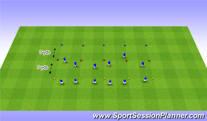 Football/Soccer Session Plan Drill (Colour): Interval Runs w/ Plyo