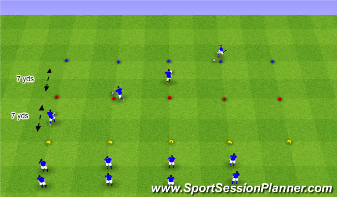 Football/Soccer Session Plan Drill (Colour): Cone Races
