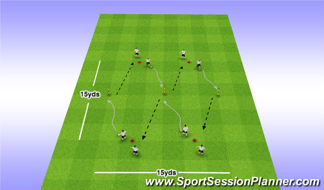 Football/Soccer Session Plan Drill (Colour): Ball Comfort
