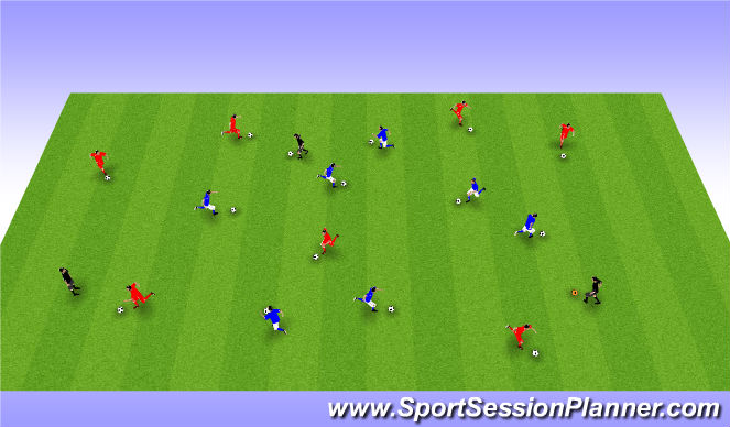 Football/Soccer Session Plan Drill (Colour): Freestyle Moves Intro
