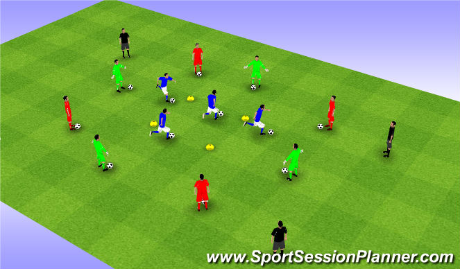 Football/Soccer Session Plan Drill (Colour): Moves Square