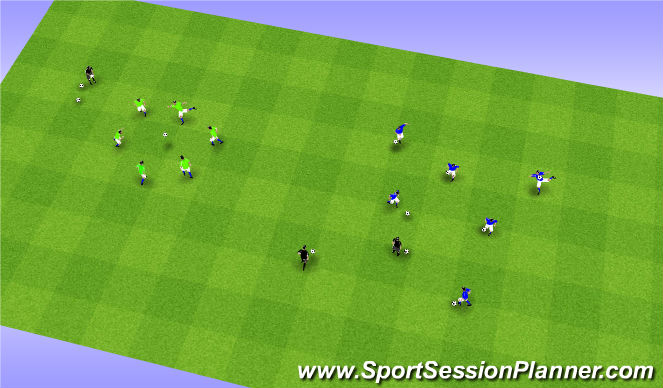 Football/Soccer Session Plan Drill (Colour): Juggling Directed