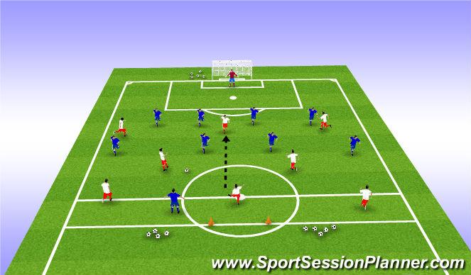Football/Soccer Session Plan Drill (Colour): 8v10