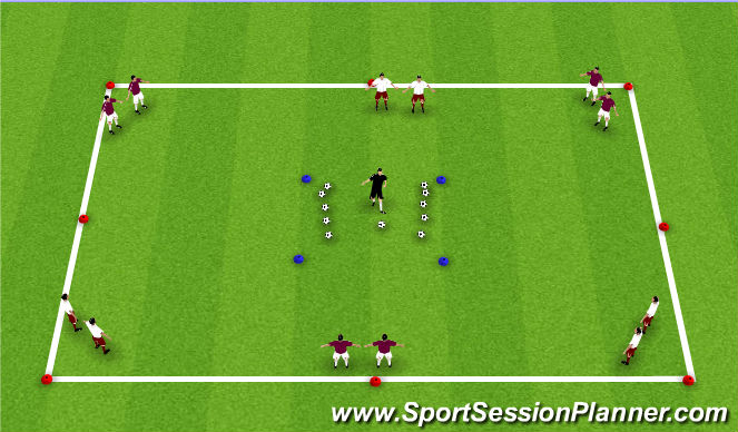 Football/Soccer Session Plan Drill (Colour): Jimmy Neutron