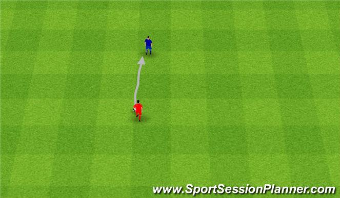 Football/Soccer Session Plan Drill (Colour): Odbiór piłki ograniczonemu Napastnikowi.