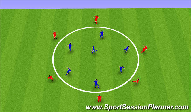 Football/Soccer Session Plan Drill (Colour): Roxbury Circle