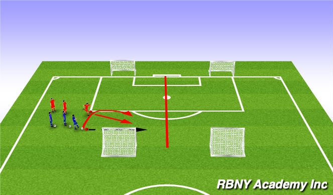 Football/Soccer Session Plan Drill (Colour): Creative Player (Opposed)