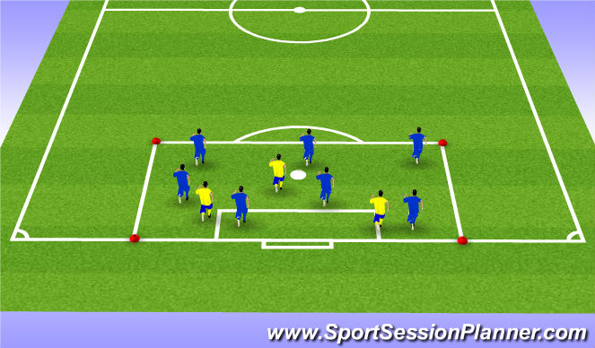 Football/Soccer Session Plan Drill (Colour): Warm up Tag (movement awareness)