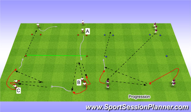Football/Soccer Session Plan Drill (Colour): LP1-Technical Passig