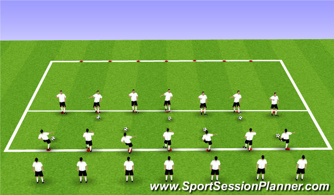 Football/Soccer Session Plan Drill (Colour): Technical - with Movement